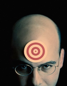 bullseye painted on my forehead