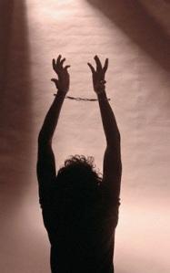 shackled hands