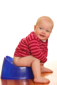9325266 - portrait of a baby girl - potty training