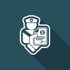 74574072 - policeman fine icon
